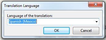 Poedit language selection